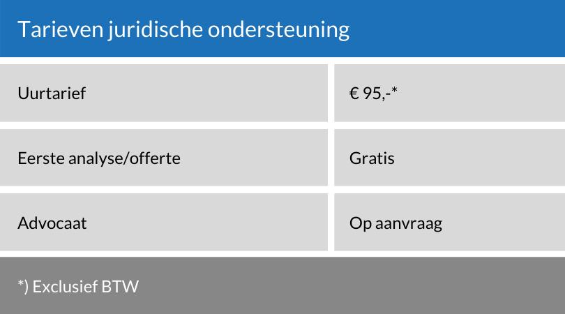 Tarieven-juridische-ondersteuning-advies-amersfoort-almere-jurist-advocaat.